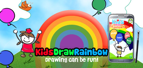 kids draw rainbow - Images Of Kids Drawing